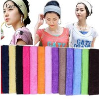 Gros-1PC Bandeau élastique Yoga Sweat serviette Absorbent cheveux Band stretch Ribbon hairband Sport Pilates exercice