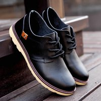 Wholesale Wholesale Dress Loafers - New Arrival Awesome Mens Casual Leather shoes for Men Dress Shoes Flats Shoes Pure Color Hot Sale Good Price