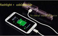Wholesale L2 Design - 2016 new Design 5modes mobile power 18650 battery Intelligent flashlight LED CREE XML L2 Flashlight USB charge Torch light