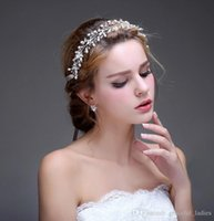 Wholesale Make Fairy Hair Accessories - Wholesale Wedding Hair Accessories Hairband Women Clear Beads Silver Gold No-fading Copper Wire Wedding Jewelry Cheap Tiaras Custom Made