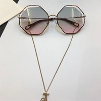 Wholesale Butterfly Shaped Case - 132 Sunglass Luxury Women Brand Deisnger CL 132S Eight Sided Shape Uv400 Len Summer Style Adumbral Butterfly Designer Top Come With Case