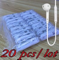 Wholesale Earphone For Mp3 Pieces - 20 pieces   lot For s6 Earphone Stereo Earbuds In-Ear With Mic for MP3 MP4 Samsung Galaxy S7 S6 S4 S3 S2 i9800 i9300 S6 Edge