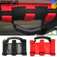 Wholesale 4wd Accessories Wholesalers - For Jeep Wrangler JK 2 pcs Roll Bar Mount Side Grab Handle Handles Kit Black For 4WD Off Road Accessories CJ TJ