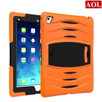 Wholesale Ipad Military Cases - For 2017 New iPad pro 9.7 inch heavy duty stand case military with screen protector defender case Shockproof Drop resistance cover