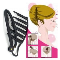 Adatti a donne nere Elegante francese Twist Hair Maker Clip Updo Styling Tool Hot