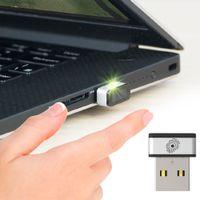 Wholesale Fingerprint Readers - macih USB Fingerprint Reader for Windows 7,8 & 10 PQI My Lockey 360° Touch Speedy Matching Multi Biometric fido Security Key