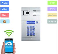 Wholesale Tablets Camera Video - free shipping wifi IP video door phone support IOS Android smartphone tablet PC
