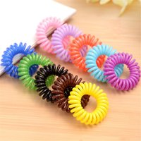 Fashion Hair Rope Phone Rings Circle Band Femmes Scrunchy Ornements Accessoires Girl Child Elastic Telephone Line Bijoux Hairband
