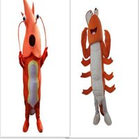Wholesale Custom Advertising Mascot - shrimp Mascot Costume Ocean Animal mascot Adult Orange Shrimp Costumes Cartoon Costumes Advertising Costumes Free Shipping
