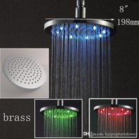 "best led head temperature - 8"" temperature detectable LED shower head 200*200mm"