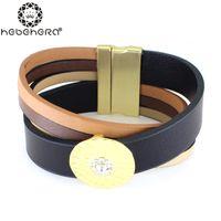 Wholesale Top Handmade Bracelets For Women - Wholesale-Top Quality Statement Handmade Round Metal Rhinestone Bangles Bracelets For Women pulseras bijoux