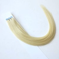 "Wholesale Tap Hair - Double Side Tap hair Extension 100% Natural Hair Skin Hair Weft 16-24"" #60 Platinm Blonde color"