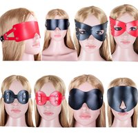 Wholesale Masquerade Masks Sex - Blindfold Erotic Goods Black Leather Mask Fetish For Women Sex Leather Masks Masquerade Bdsm Adult Sex Mask Bondage Sex Toys For Couples