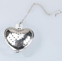 Wholesale Stainless Steel Heart Shaped Spoons - Heart Shape Stainless Steel Infuser Filter Strainer Tea Ball Spoon