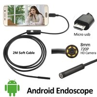 2MP HD720P 8mm Appareil photo endoscope USB Android 2M imperméable OTG Flexible Serpent USB Andorid Borescope Camera 6LED