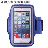 Wholesale Iphone 5s Workout - Sports Case For iphone 7 6 plus 5 5S 4 Waterproof Bandage Run Workout Phone Arm Package Universal for 4-6inch screen mobile phone