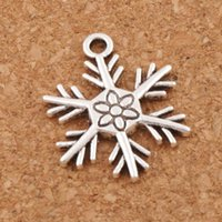 Wholesale Snowflakes Beads - Big Christmas Snowflake Charm Beads Hot Pendants 100pcs lot 19x24mm Tibetan Silver Fashion Jewelry DIY L738