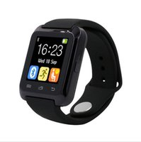 Wholesale Watch Rubber Phone - Bluetooth u80 Smart Watch android MTK smartwatchs for Samsung S4 Note 2 Note3 HTC xiaomi for Android Phone for adults