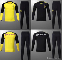 Wholesale Xxl Size Suits - AAA+quality 2017 2018 REUS training suit kits Soccer jersey 17 18 AUBAMEYANG DEMAELE M.GOTZE PULISIC training tracksuit SIZE S-3XL