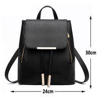 Wholesale girl backpacks for high school - Women Backpack High Quality PU Leather Mochila Escolar School Bags For Teenagers Girls Top-handle Backpacks Herald Fashion