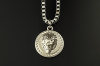 Wholesale Mens Lion Pendant - HOT 18K Gold Silver Plated Lion Medallion Head pendant Hiphop franco long necklaces for mens bijouterie High Quality