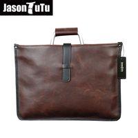 Wholesale Promotional Coffee - 2016 promotional quality PU leather men Messenger Bag Vintage fashion handbag man bag briefcase coffee color B85