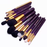 Wholesale Concealer For Lips - 2017 Jessup Brushes For Makeup 15pcs Makeup Brushes Set Powder Foundation Eyeshadow Concealer Eyeliner Lip Brush Tool T095