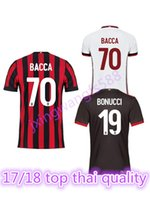 b64af6802 2017 AC Milan jersey 17 18 thai quality BONUCCI soccer jersey MONTOLIVO  ROMAGNOLI BONAVENTURA SUSO embroidery football shirts