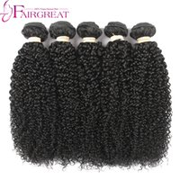 Cheveux À Tisser Kinky Naturel Peu Coûteux Pas Cher-Kinky Curly Human Hair Bundles Cheveux Humains Péruviens 5pc Beaucoup Natural Color Weave Grade Unprocessed Kinky Curly Human Hair Extensios Cheap