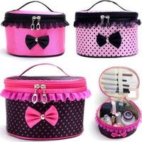 Wholesale nice travel bags - New Women Multifunction Elegant Nice Lady Travel Cosmetic Bag Makeup Case Pouch Toiletry Organizer With Lace ELB043