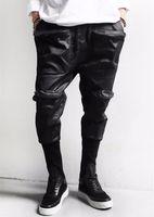 Wholesale Hip Hop Skinny Harem Style - Wholesale-Harem Pants New Style Fashion 2016 Casual Skinny Hip Hop Sport Pants Trousers Drop Crotch Jogging Pants Men Joggers Sarouel