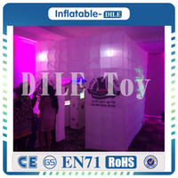 Wholesale wedding tent lighting online - x2 x2 m Led Lighting Inflatable Photo Booth One Opening Photo Booth Tent For Party Wedding