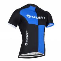 ingrosso abbigliamento gigante blu della bici-2016 gigante nero blu ciclismo Jersey Ciclismo Bike Bicicleta Abbigliamento ciclismo per uomo Mountain Bike Jersey
