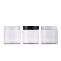 Wholesale Clear Cosmetic Storage - 12pcs 200g Portable Clear Empty Plastic Jar For Mask Round Bottle Empty Cream Jars Containers For Cosmetic Bead Storage