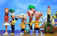 Wholesale Phineas Ferb Figures - Phineas and Ferb Perry the Platypus figure Toy set of 6 1206#06