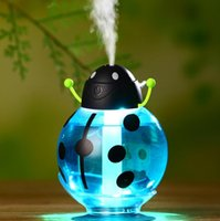Wholesale warm mist humidifier aroma diffuser - beetle humidifier Aroma diffuser Aromatherapy Essential oil diffuser Mini Humidifier USB Beetle Humidifier 3 color KKA1846