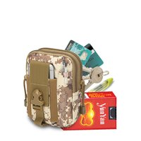Wholesale Packing Services - New Light Portable Small Tactics Waist Pack Debris Tactics Service Bag For Military Soldier Riding Fishing Hiking Mobile Phone 5 Colors