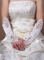 Wholesale Gloves Long Wedding Dress - Hot Sale High Quality Bridal Wedding Gloves 2017 Long Party Dress Fingerless Rhinestone Lace Bridal Gloves