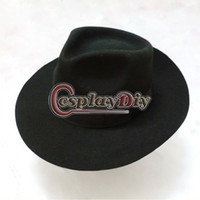 Wholesale Dance Costume Accessories Hat - Wholesale-Michael Jackson Black Hat Adult Dance Stage Cosplay Accessories