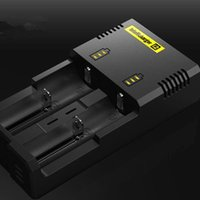 Genuine Nitecore I2 Universal Charger for 16340 18650 14500 26650 Battery E Cig 2 in 1 Muliti Function Intellicharger Rechargeable free ship