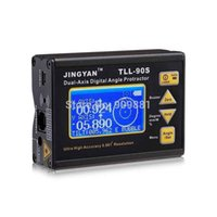 Wholesale High Accuracy Inclinometer - High Accuracy 0.005 TLL-90S Professional Dual-axis LCD Digital Protractor Inclinometer Laser Level Tools Angle Meter Hot Sale