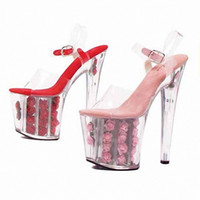 Wholesale Hot Pink Platform Sandals - Hot Sale! Sexy 17cm High Heel Slippers Platforms Pole Dance Shoes, Women Sandals, Party   Wedding Shoes