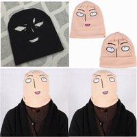Wholesale Woolen Caps For Men - 2016 Anime One Punch Man Saitama Woolen Beanie Hat Winter Hats for Men Women Warm Kniting Fedora Hat Accpet Mix Order