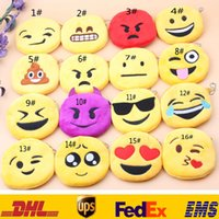 Wholesale Pocket Change Purse - New Expression Emoji Coin Purses Cartoon Plush Mini Organizer Wallets Change Bags Handbag Pendant Keychain Key Rings XMAS Toys Gifts HH-P04