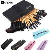 Wholesale Professional 32pcs - 32Pcs Set Professional Makeup Brush Set Foundation Eye Face Shadows Lipsticks Powder Make Up Brushes Kit Tools + Bag