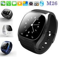 Android sports sms - 2016 Bluetooth Smart Watch M26 Waterproof Sport Watch For iPhone Samsung IOS Android Phone With Dial SMS Remind Pedometer