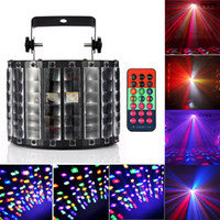 Wholesale Remote Control Butterflies - High Quality 30W 9Leds Butterfly Stage Light DMX512 RGBW Indoor LED Stage Lights with Remote Control Disco Party DJ Projector