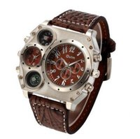 Wholesale Compass Watch Strap - New recommend 2016 new men fashion large dial quartz movement sports watch PU strap shows the temperature direction watches men luxury brand