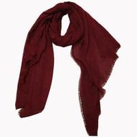 Wholesale Cheap Wholesale Pashmina - Cheap plain solid color women soft wrinkle fashion designer polyester autumn scarf wraps factory selling directly 10pcs lot size 90x180cm