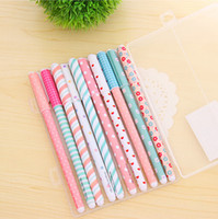 packing supplies store - 10 pack High Quality mm Gel Pens Cute Korean School Office Supplies Hot Sale Stationery Store Lovely Floral Sign Pens